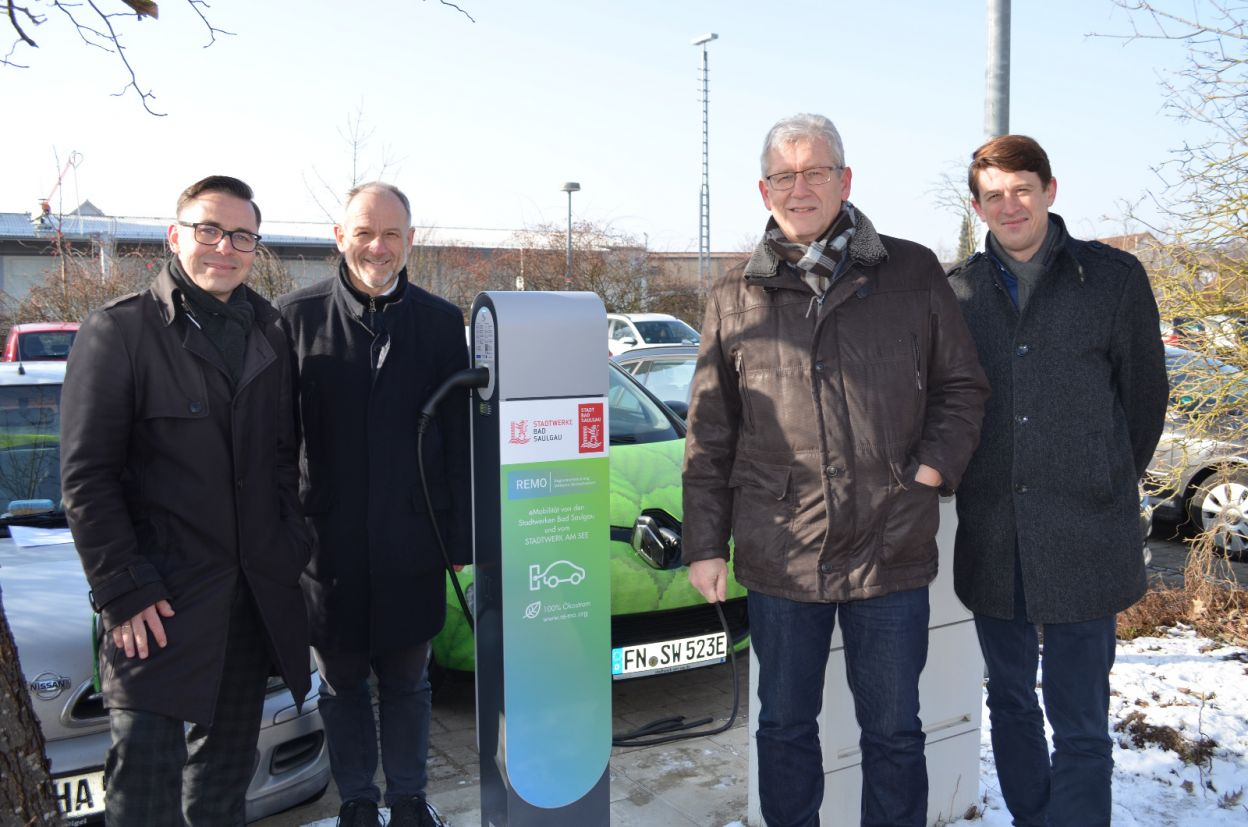 Vier neue Elektro-Ladestationen in Bad Saulgau